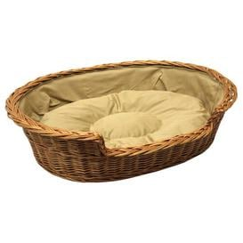 image-Jessamine Dog Bed Basket with Cushion Archie & Oscar Size: Extra Large, Colour: Light