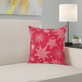 image-Christmas Elegance Cushion Cover Apelt Colour: Red