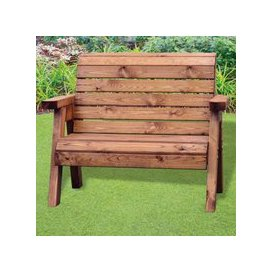 image-Little Fellas 2 Seat Redwood Kids Traditional Garden Bench