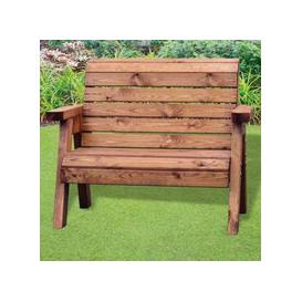 image-Little Fellas 2 Seat Redwood Kids Traditional Garden Bench