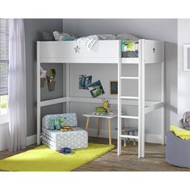 image-Argos Home Stars High Sleeper and Kids Mattress - White