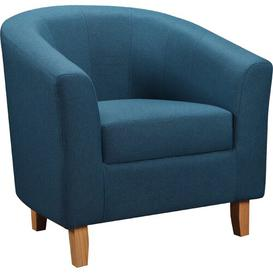 image-Calles Tub Chair Hashtag Home Upholstery Colour: Petrol Blue