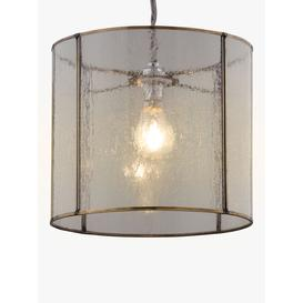 image-Croft Collection Leighton Easy-to-Fit Bubble Glass Ceiling Shade