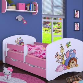 image-Mapes Cot Bed / Toddler (70 x 140cm) Bed Frame with Drawer Isabelle & Max Colour (Bed Frame): Pink