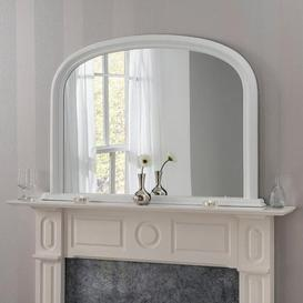 image-Yearn Contemporary Overmantle Mirror 112x77cm White White