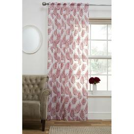 image-Horace Slot Top Sheer Single Curtain Bay Isle Home Size per Panel: 140 W x 183 D cm, Colour: Red