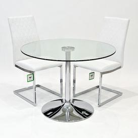 image-Laureen Dining Set with 2 Chairs Metro Lane