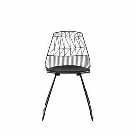 image-Lacroix Upholstered Dining Chair Fairmont Park Leg Colour: Black