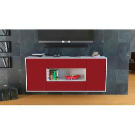 image-Telscombe Sideboard Brayden Studio Colour (Body/Front): White Mat/Red