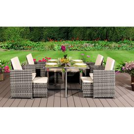 image-Gefen 8 Seater Dining Set with Cushions