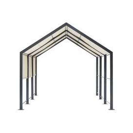 image-Ecru Fabric and Aluminium Garden Pergola Calvi