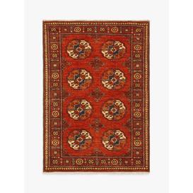image-Gooch Luxury Hand Knotted Ersari Rug, Red