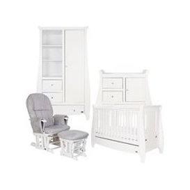 image-Tutti Bambini Katie Cot Bed 5 Piece Nursery Set in White
