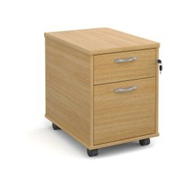 image-Tully Mobile Pedestals, Oak, Free Next Day Delivery