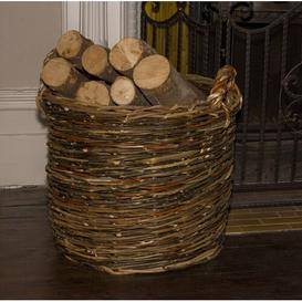 image-Wicker Log Basket August Grove Size: 39cm H x 45cm W x 45cm D