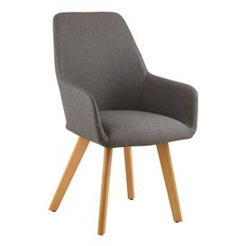 image-Porrima Fabric Upholstered Leisure Bedroom Chair In Grey