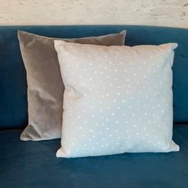 image-Blue Spotted Cushion