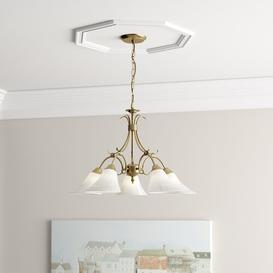 image-Bancroft 5-Light Shaded Chandelier Three Posts