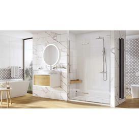 image-Chisdock Semi-Frameless Tempered Glass Hinged Shower Door