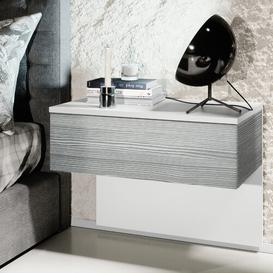 image-Sleep 1 Drawer Bedside Table Vladon Colour (Frame / Table Top): Avola anthracite/White, Lighting: Without LEDs