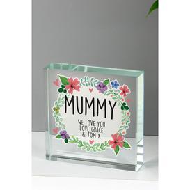 image-Personalised Floral Wreath Crystal Token