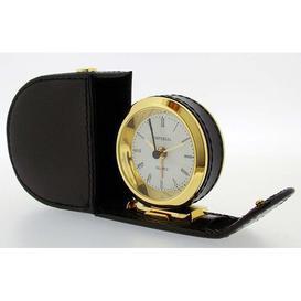 image-Desk Clock Happy Larry Case Colour: Black