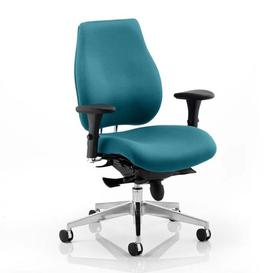 image-Chiro Plus Office Chair In Maringa Teal With Arms