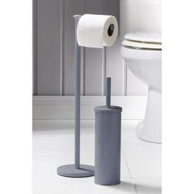 image-2 Piece Toilet Roll Holder and Brush Set