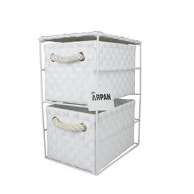 image-2 Drawer Storage Utility Cart House of Hampton Colour: White