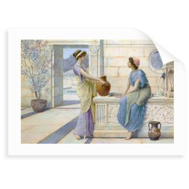 image-'Two Women of Ancient Greece Filling Their Water Jugs at a Fountain (Women of Corinth)' Painting Astoria Grand Format: Unframed Paper, Size: 30 cm H x