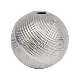 image-Libra Silver Ribbed Spherical Vase