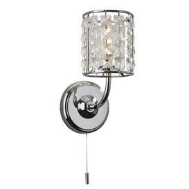 image-Firstlight 6150 Pearl 1 Light Chrome And Crystal Bathroom Wall Light