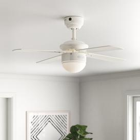 image-Wirrian 90cm 4 Blade Ceiling Fan with Remote Zipcode Design