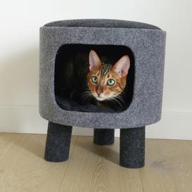 image-Rosewood Cat Stool