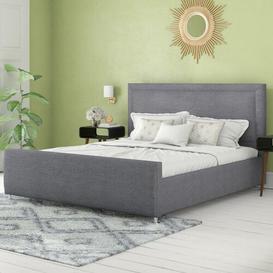 image-Derringer Upholstered Bed Frame Fairmont Park Size: Super King (6'), Colour: Silver