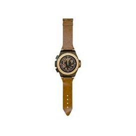 image-Swisk Novelty Wrist Watch Wall Clock In Tan Finish