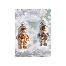 image-NEW Four Spacemen Glass Baubles