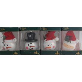image-Set of 4 Snowman Christmas Baubles