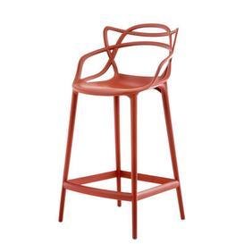 image-Masters Bar chair - H 65 cm - Polypropylen by Kartell Rusty orange
