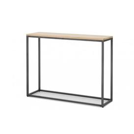 image-Vento - Industrial Oak Console Table