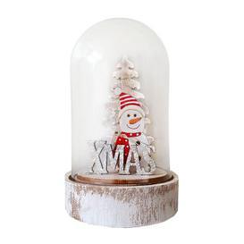 image-Light Up Christmas Globe Snowman