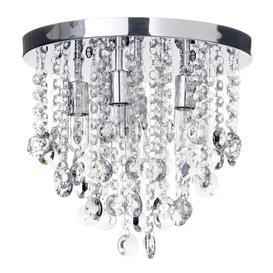 image-Turin 6 Light Semi Flush Circular Bathroom Ceiling Light - Chrome