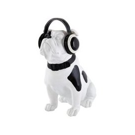 image-Black and White Dog Statuette H33