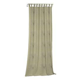 image-Devos Tab Top Blackout Single Curtain Union Rustic Curtain colour: Grey/Green, Size: 175cm H x 132cm W