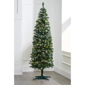 image-Frosted Christmas Tree with Warm White LED Lights