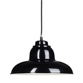 image-Averill 1-Light Dome Pendant Brambly Cottage Shade Colour: Black