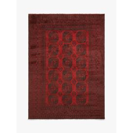 image-Gooch Luxury Hand Knotted Afghan Elephant Rug, Red