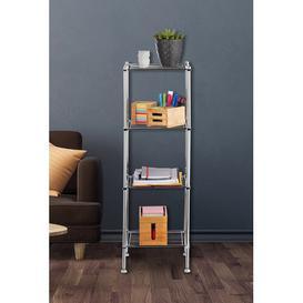 image-33 x 101cm Free Standing Bathroom Shelf Symple Stuff