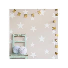 image-Kids Star Design Wallpaper in Blush & White
