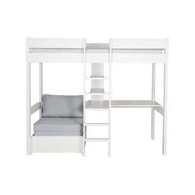 image-Stompa - Nexus High-Sleeper with Desk and Chair Bed - White
